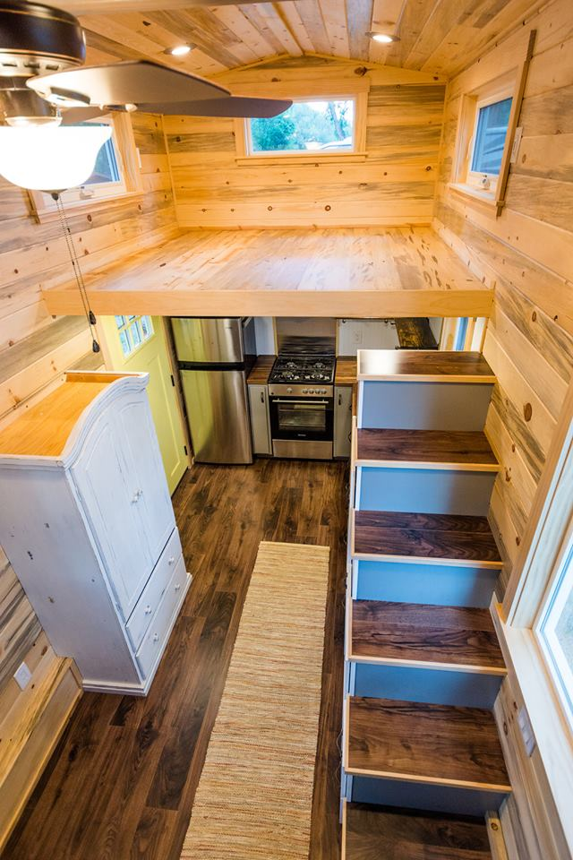 24' Custom Tiny House on Wheels by Mitchcraft Tiny Homes- Storage Loft