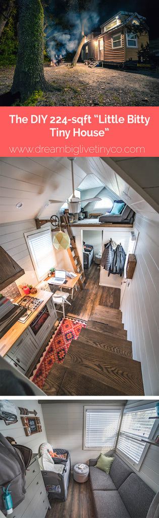 "DIY 224-sqft ""Little Bitty Tiny House"""