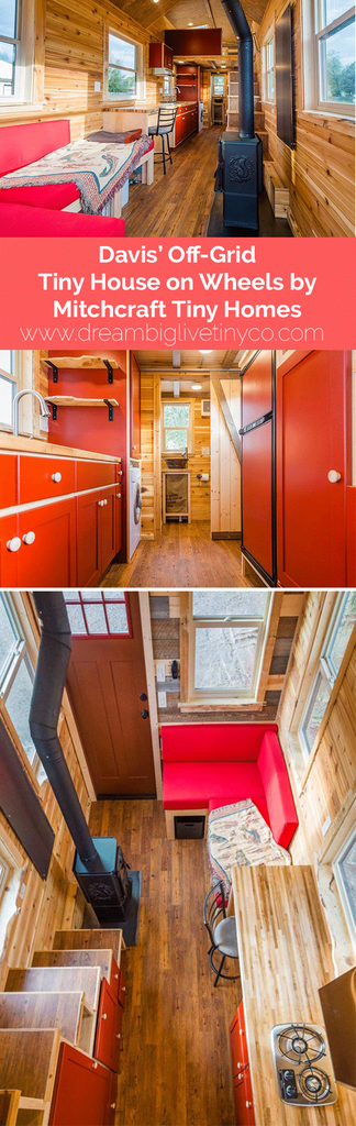 Davis' Off-Grid Tiny House on Wheels by Mitchcraft Tiny Homes