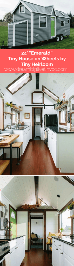 "24' ""Emerald"" Tiny House on Wheels by Tiny Heirloom"