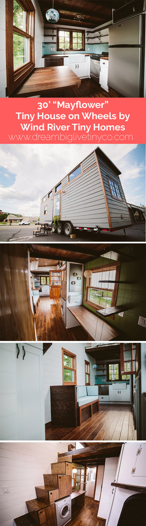 "30' ""Mayflower"" Tiny House on Wheels by Wind River Tiny Homes"