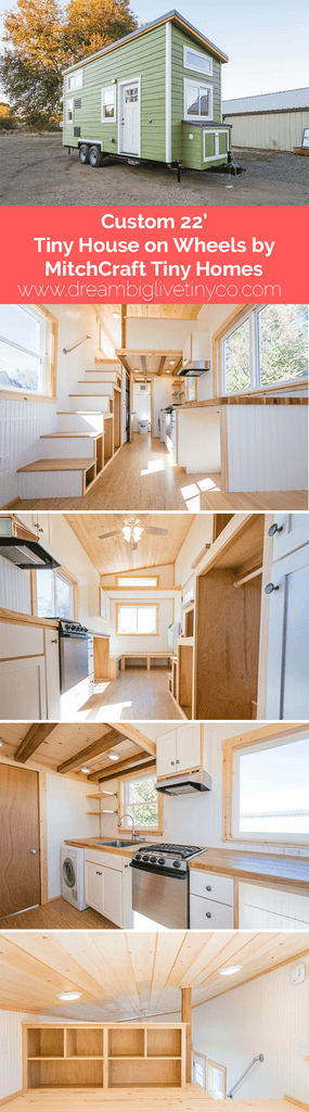 Custom 22' Tiny House on Wheels by MitchCraft Tiny Homes