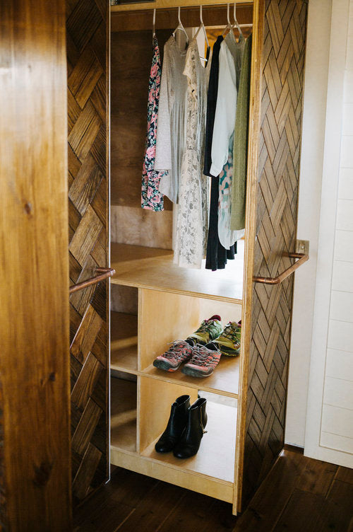 Monocle by Wind River Tiny Homes - Pull Out Closet