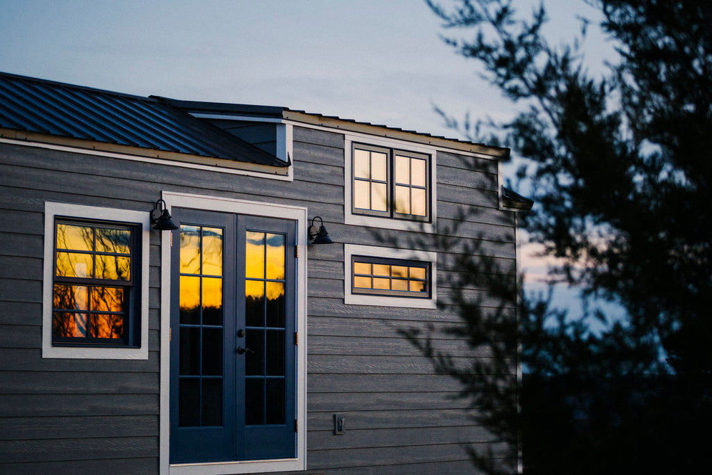 Monocle by Wind River Tiny Homes - Exterior - LP smartside, metal roof, aluminum clad windows