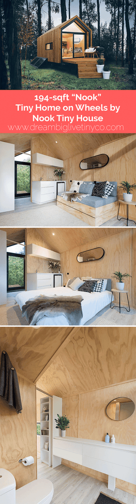 "194-sqft ""Nook""  Pre-fab Tiny Home on Wheels by Nook Tiny House"