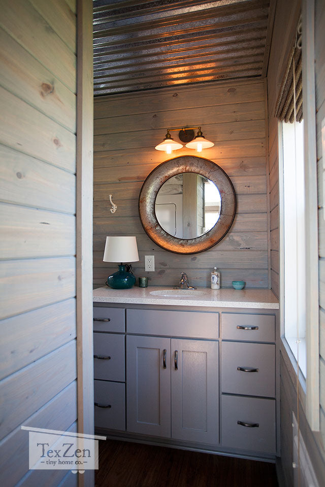 Tex Zen Tiny Home Co. - Open Concept Bathroom