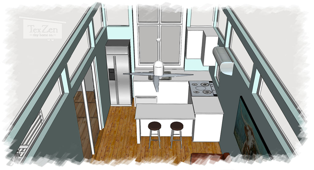 Tex Zen Tiny Home Co. - Open Concept Floor Plan 5