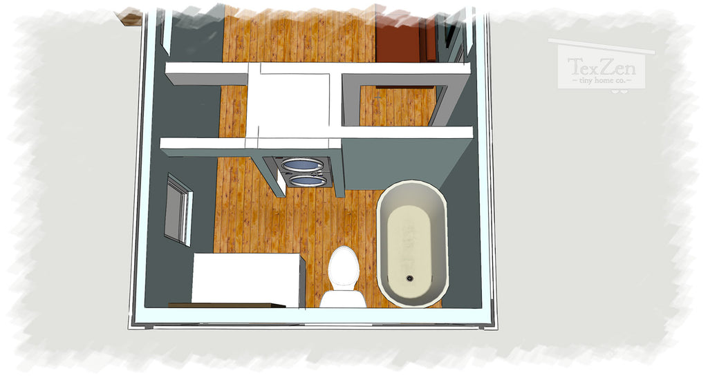 Tex Zen Tiny Home Co. - Open Concept Floor Plan 6
