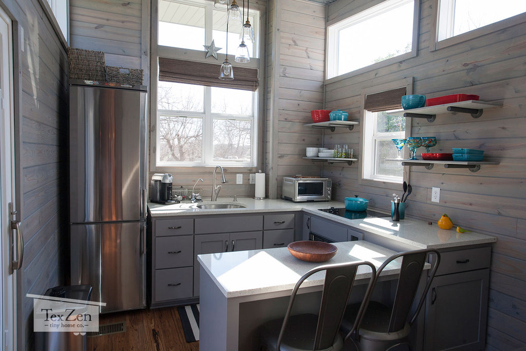 Tex Zen Tiny Home Co. - Open Concept Kitchen