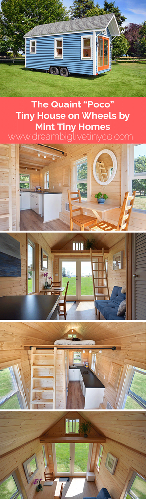 "The Quaint ""Poco"" Tiny House on Wheels by Mint Tiny Homes"