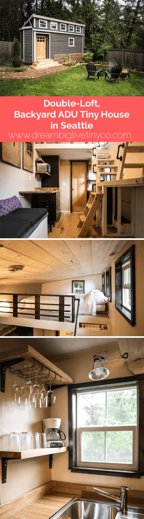 Double-Loft, Backyard ADU Tiny House in Seattle