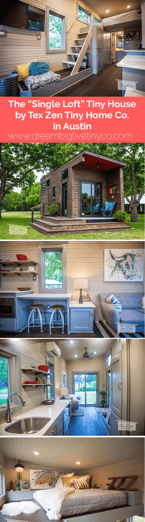 "The ""Single Loft"" Tiny House by Tex Zen Tiny Home Co. in Austin"