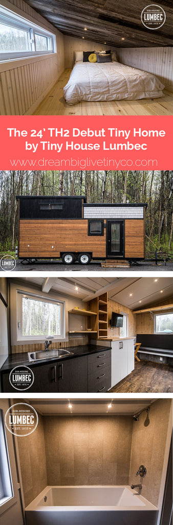 The 24' TH2 Debut Tiny Home by Tiny House Lumbec