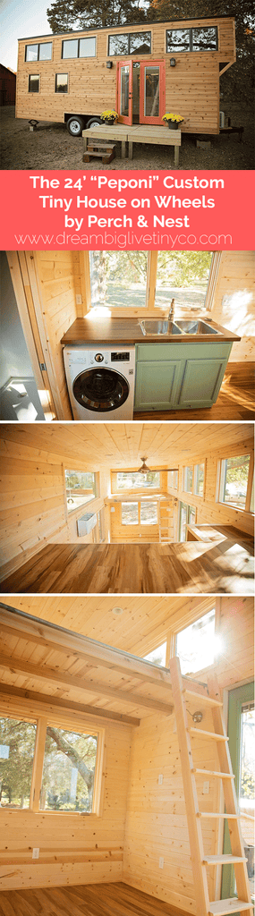 "The 24' ""Peponi"" Custom Tiny House on Wheels by Perch & Nest"