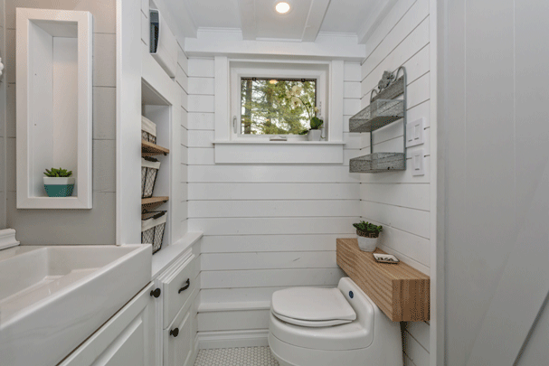 The Heritage Tiny House on Wheels by Summit Tiny Homes - Bathroom