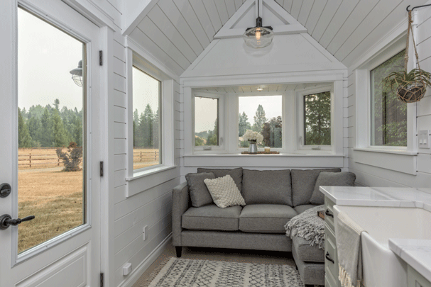 The Heritage Tiny House on Wheels by Summit Tiny Homes - Living Room