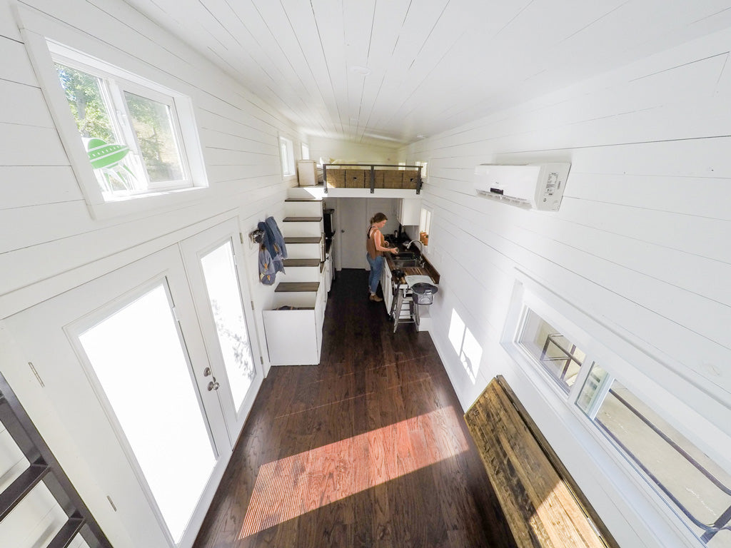 Tiny House Family - Open Living Space with Kitchen