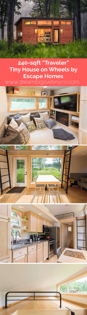 "240 sqft ""Traveler"" Tiny House on Wheels by Escape Homes"