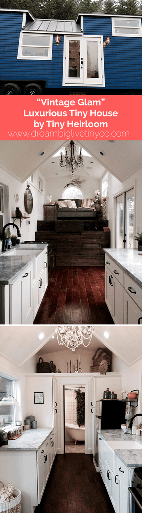 """Vintage Glam"" Luxurious Tiny House by Tiny Heirloom"