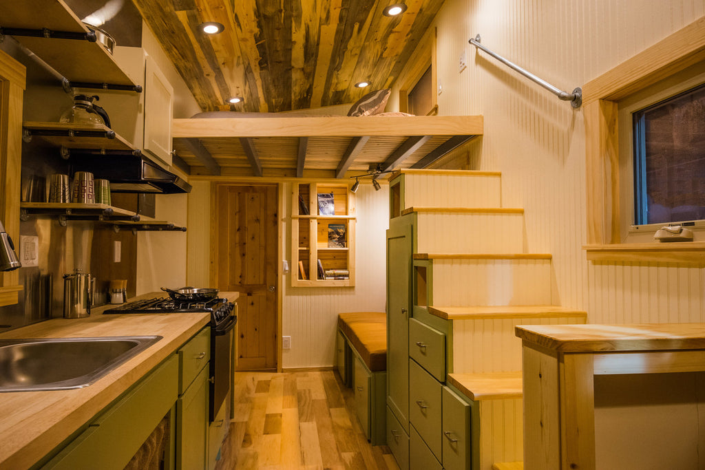 Warner's Hidden Corner tiny house interior in Fort Collins, Colorado