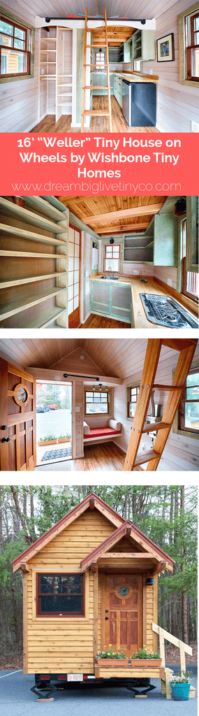 "Tiny Home Designs: 16' ""Weller"" Tiny House On Wheels By Wishbone Tiny Homes"
