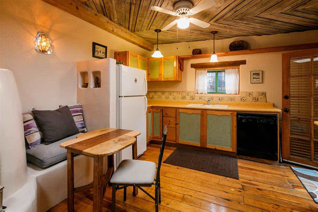 Santa Fe Pueblo Style Tiny Home Interior - Kitchen