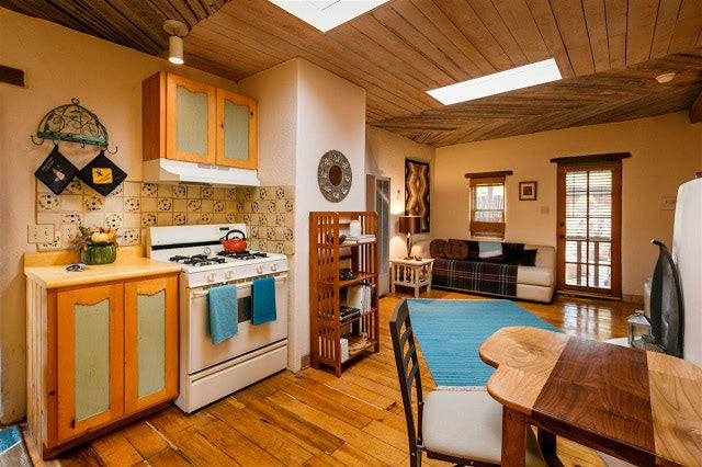 Santa Fe Pueblo Style Tiny Home Interior - Kitchen and Dining