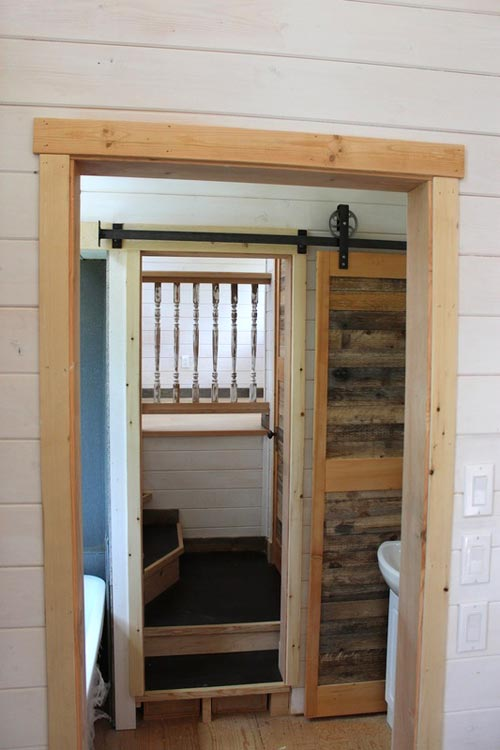 "This 38' gooseneck tiny house on wheels is built by Nelson Tiny Houses based in Nelson, British Columbia, Canada!  This huge tiny house features 380-sqft of floor space (including the gooseneck bedroom) and includes a very open floor plan. Inside, you'll find a multi-functional living/dining/work space upon entering the home, a huge kitchen with countertops and cabinets on opposite sides of the house, a mid-size bathroom with a toilet and shower, a bedroom on the gooseneck, and an additional loft above the living room that adds extra sleeping or storage space!  Follow Nelson Tiny Houses on Instagram or contact them here for any questions!  The ""Winter Wonderland""—A 38' Gooseneck Tiny House built by Nelson Tiny Houses  The ""Winter Wonderland""—A 38' Gooseneck Tiny House built by Nelson Tiny Houses  The ""Winter Wonderland""—A 38' Gooseneck Tiny House built by Nelson Tiny Houses"