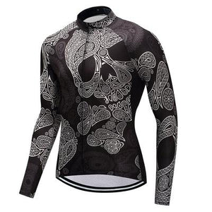 Men's Thermal Cycling Jersey Set - SKULL