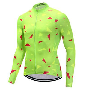 Men's Thermal Cycling Jersey Set - ASCENT LIME