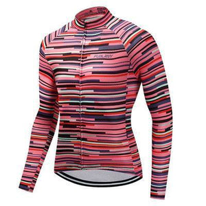 Men's Thermal Cycling Jersey Set - ROSE DIVISION