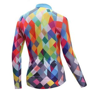 Men's Thermal Cycling Jersey Set - COLOR DIAMOND