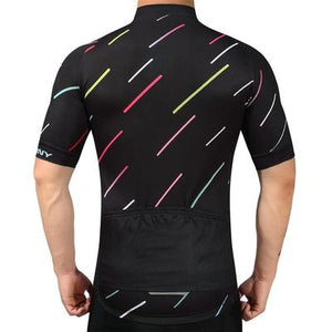 Men's Short Sleeve Cycling Jersey Set - NIGHT STRIPE
