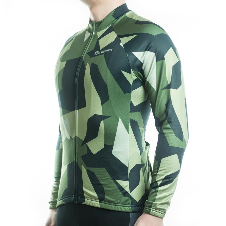 Trendy Cycling Men's Green / S Army Camo - Men's Long Sleeve Jersey