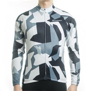 Trendy Cycling Men's CadetBlue / S Army Camo - Men's Long Sleeve Jersey