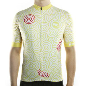 Trendy Cycling Men's Cornsilk / S Swirly - Men's Short Sleeve Jersey