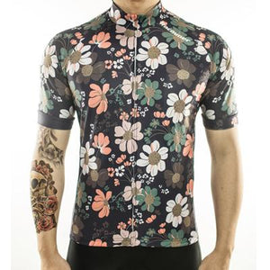 Trendy Cycling Men's DarkSlateGrey / S Flower Power - Men's Short Sleeve Jersey