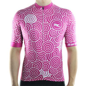 Trendy Cycling Men's DeepPink / S Swirly - Men's Short Sleeve Jersey