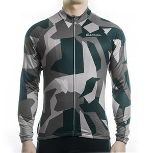Trendy Cycling Men's DimGray / S Army Camo - Men's Long Sleeve Jersey