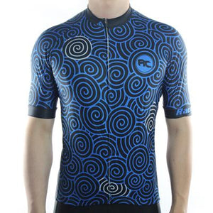 Trendy Cycling Men's Indigo / S Swirly - Men's Short Sleeve Jersey