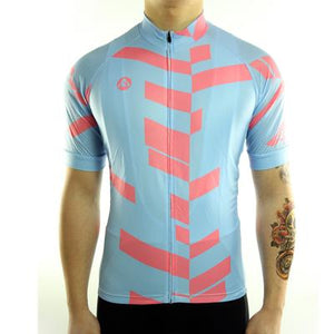 Trendy Cycling Men's LightSteelBlue / S Divided - Men's Short Sleeve Jersey