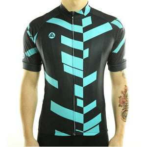 Trendy Cycling Men's MediumTurquoise / S Divided - Men's Short Sleeve Jersey