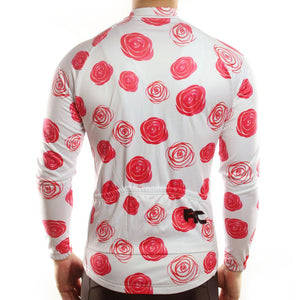 Trendy Cycling Men's Red Rose - Men's Long Sleeve Jersey