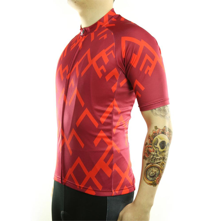 Trendy Cycling Men's Red / S Summit - Men's Short Sleeve Jersey