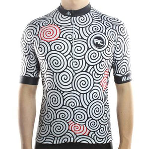 Trendy Cycling Men's White / S Swirly - Men's Short Sleeve Jersey