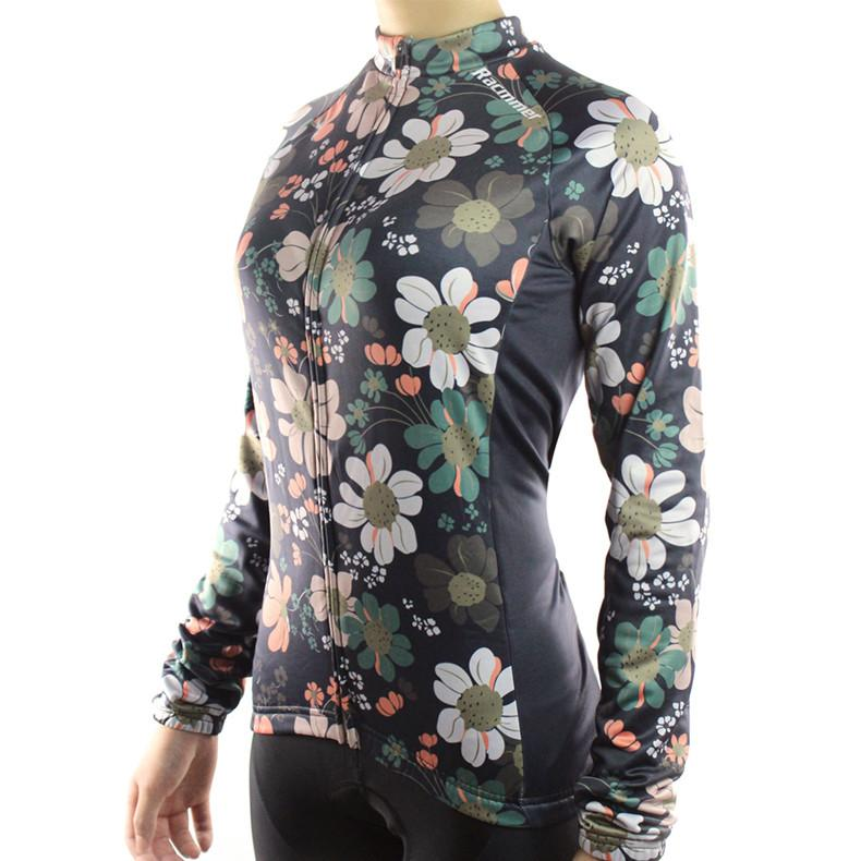 Trendy Cycling WOM FLOWER POWER - WOMEN'S LONG SLEEVE JERSEY