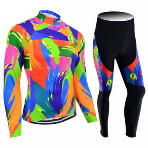 Trendy Cycling Women's JERSEY AND PANTS / XXL / Fluo FLUO - WOMEN'S LONG SLEEVE JERSEY SET