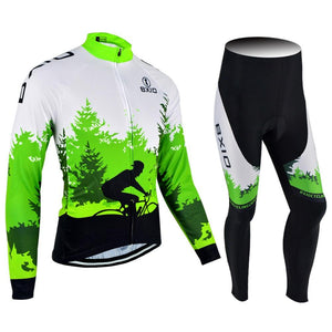 Trendy Cycling Women's JERSEY AND PANTS / XXL / Green FOREST - WOMEN'S THERMAL JERSEY SET