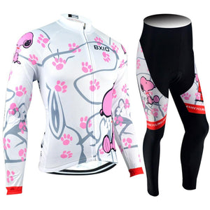 Trendy Cycling Women's JERSEY AND PANTS / XXL / White PAW - WOMEN'S THERMAL JERSEY SET