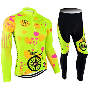 Trendy Cycling Women's JERSEY AND PANTS / XXL / Yellow LOVING - WOMEN'S THERMAL JERSEY SET